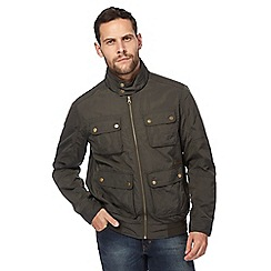 RJR.John Rocha - Big and tall khaki harrington jacket