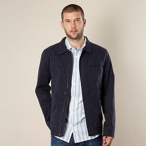 RJR.John Rocha - Designer navy canvas harrington jacket