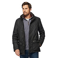 RJR.John Rocha - Big and tall dark grey four pocket canvas jacket