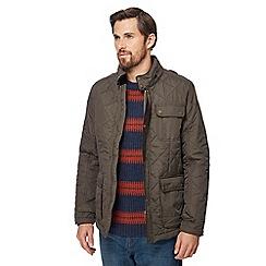 RJR.John Rocha - Khaki zip neck quilted jacket