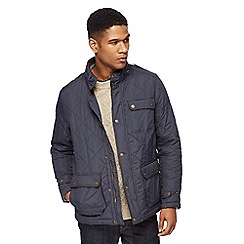 RJR.John Rocha - Big and tall navy zip neck quilted jacket