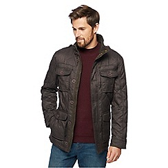 RJR.John Rocha - Big and tall brown four pocket quilted jacket