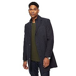 RJR.John Rocha - Navy herringbone textured Epsom coat