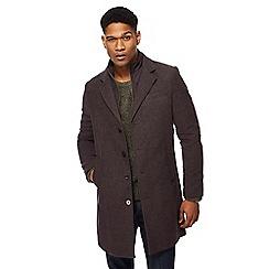 RJR.John Rocha - Brown herringbone textured Epsom coat