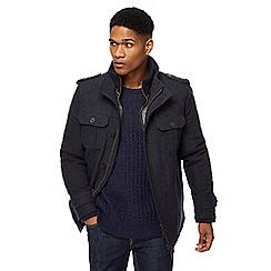 RJR.John Rocha - Navy moleskin mock underlay jacket
