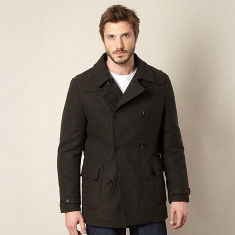 RJR.John Rocha - Designer dark green herringbone coat