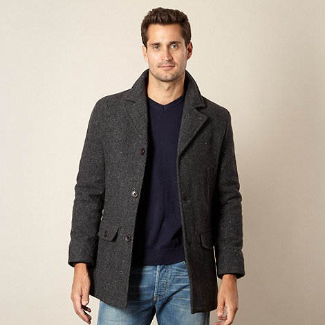 RJR.John Rocha - Designer dark grey flecked wool blend coat