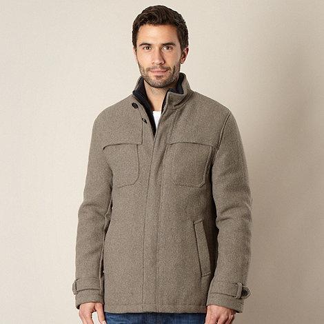 RJR.John Rocha - Designer grey wool blend padded coat