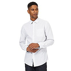 RJR.John Rocha - Big and tall white marl stripe shirt