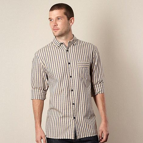 RJR.John Rocha - Designer natural two tone striped shirt