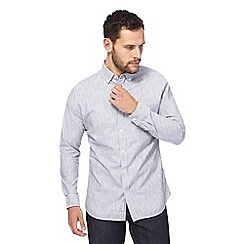 RJR.John Rocha - Big and tall blue broken stripe tailored fit shirt
