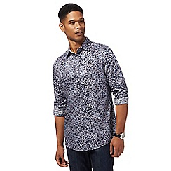 RJR.John Rocha - Big and tall grey floral print shirt