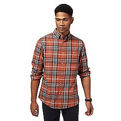 RJR.John Rocha - Big and tall orange checked shirt