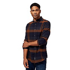 RJR.John Rocha - Big and tall navy and tan checked shirt