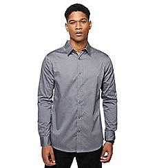 RJR.John Rocha - Grey hexagon print tailored fit shirt