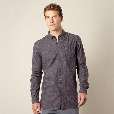 RJR.John Rocha - Big and tall designer navy textured striped shirt