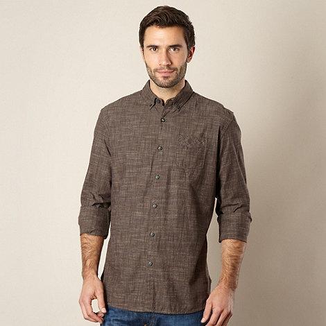 RJR.John Rocha - Designer brown textured shirt