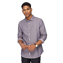 RJR.John Rocha - Purple textured patterned tailored fit shirt