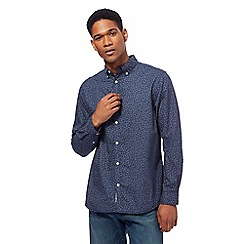 RJR.John Rocha - Big and tall blue textured tailored fit shirt