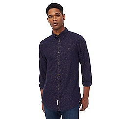 RJR.John Rocha - Blue brushed floral print tailored fit shirt