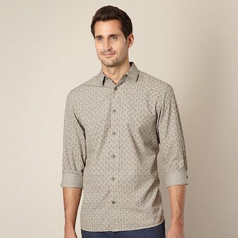 RJR.John Rocha - Designer taupe spear patterned shirt