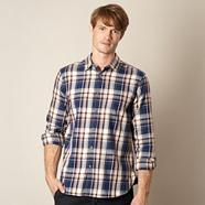 Designer blue checked shirt