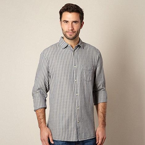 RJR.John Rocha - Designer navy jacquard striped shirt