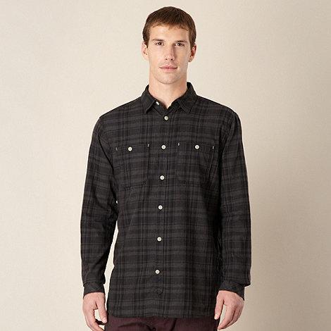 RJR.John Rocha - Designer dark grey two pocket checked shirt