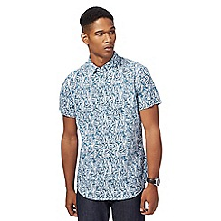 RJR.John Rocha - Big and tall blue printed tailored fit shirt