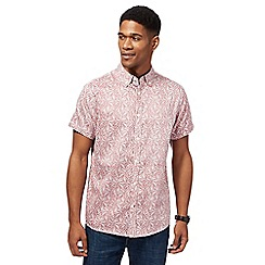 RJR.John Rocha - Big and tall red leaf print shirt