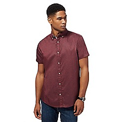 RJR.John Rocha - Big and tall dark red printed shirt
