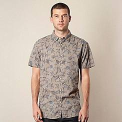 RJR.John Rocha - Designer taupe african print shirt