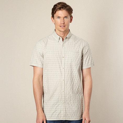 RJR.John Rocha - Big and tall designer cream jacquard check shirt