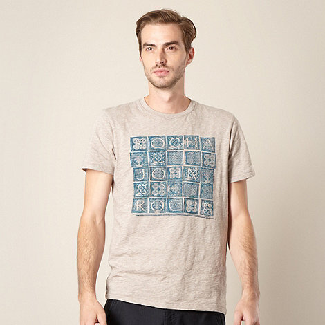 RJR.John Rocha - Designer natural graphic blocks t-shirt