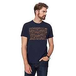 RJR.John Rocha - Navy spotted block print t-shirt