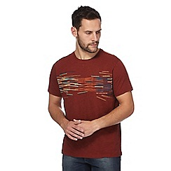 RJR.John Rocha - Dark orange printed t-shirt