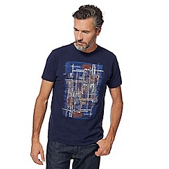 RJR.John Rocha - Navy abstract square print t-shirt