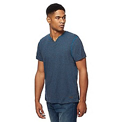 RJR.John Rocha - Big and tall dark blue feeder stripe notch neck top