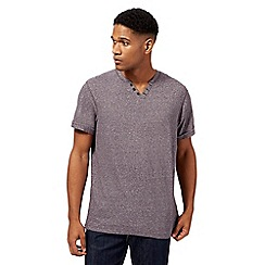 RJR.John Rocha - Plum feeder stripe notch t-shirt