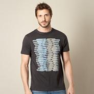 Designer dark grey graphic t-shirt