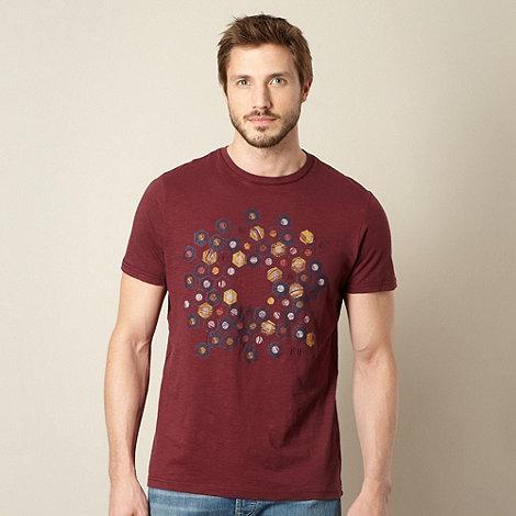 RJR.John Rocha - Designer maroon hexagon t-shirt