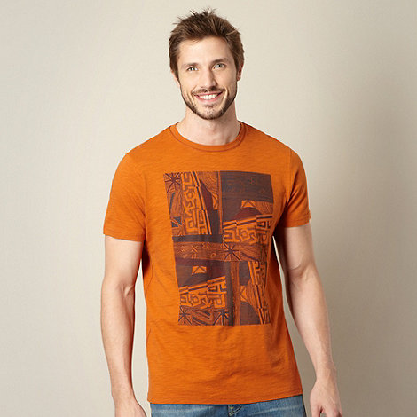 RJR.John Rocha - Designer orange graphic t-shirt