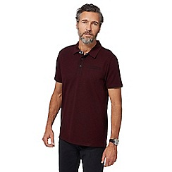 RJR.John Rocha - Dark red marl polo shirt