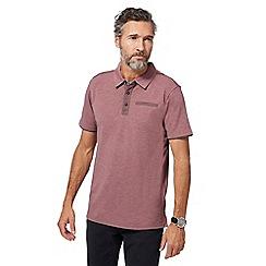 RJR.John Rocha - Dark pink marl polo shirt
