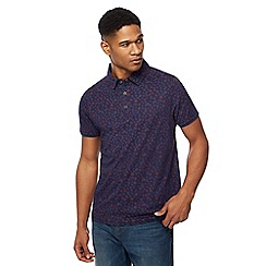 RJR.John Rocha - Navy circle print polo shirt