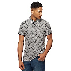 RJR.John Rocha - Grey leaf print polo shirt