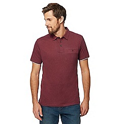 RJR.John Rocha - Dark red polo shirt with linen