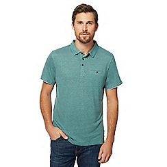 RJR.John Rocha - Green polo shirt with linen