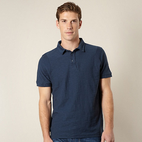 RJR.John Rocha - Big and tall designer navy textured polo shirt