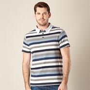 Designer navy striped polo shirt